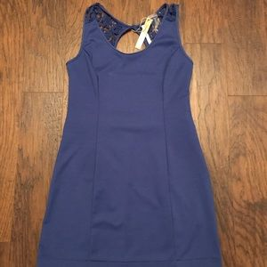 Lauren Conrad Blue Mini Cut Out Back Dress 14